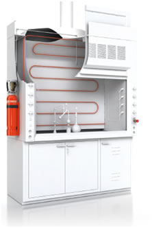 FUME HOOD CABINET SUPPRESSION SYSTEM